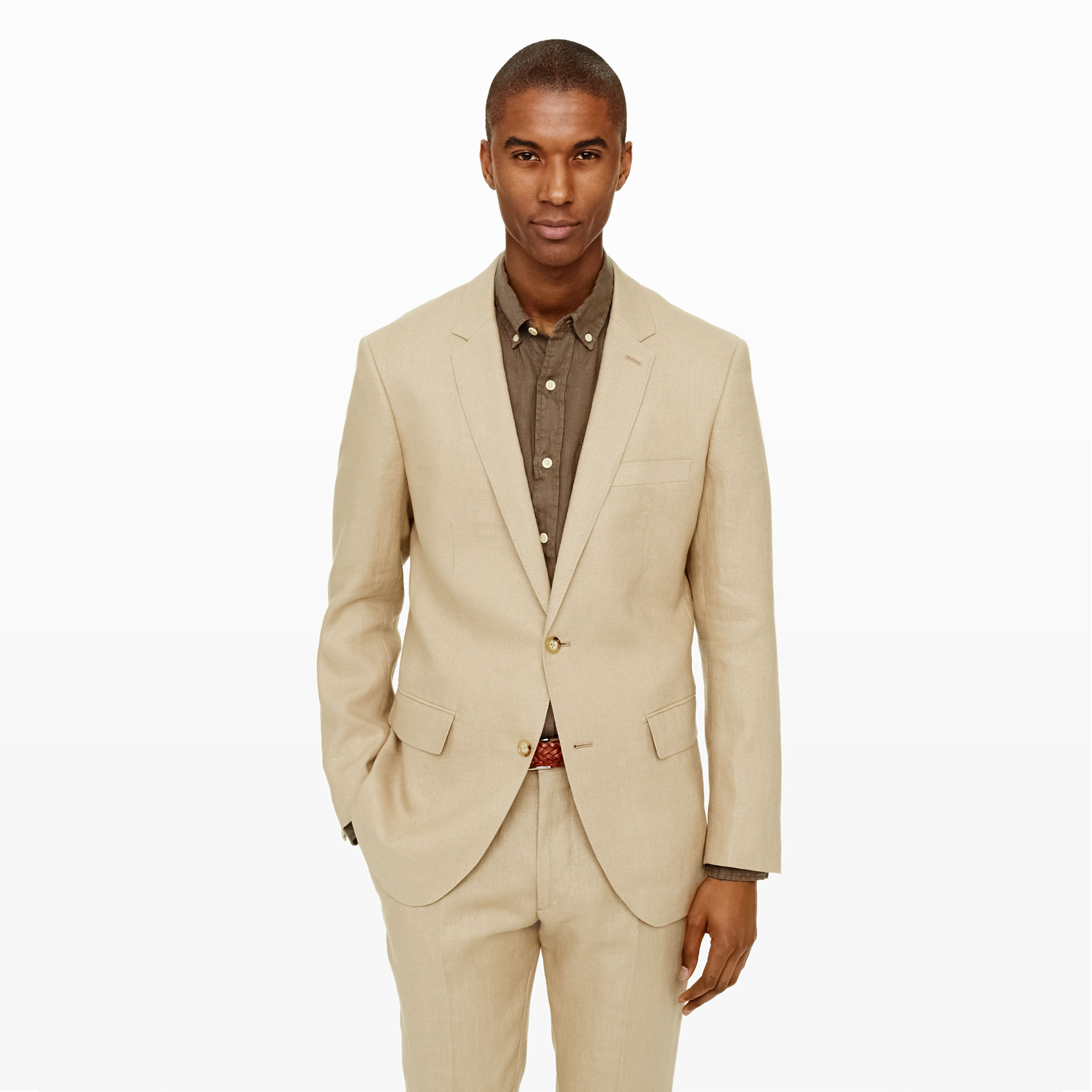 65f4b445ac94 Club Monaco New Grant Linen Suit Jacket in Natural for Men - Lyst