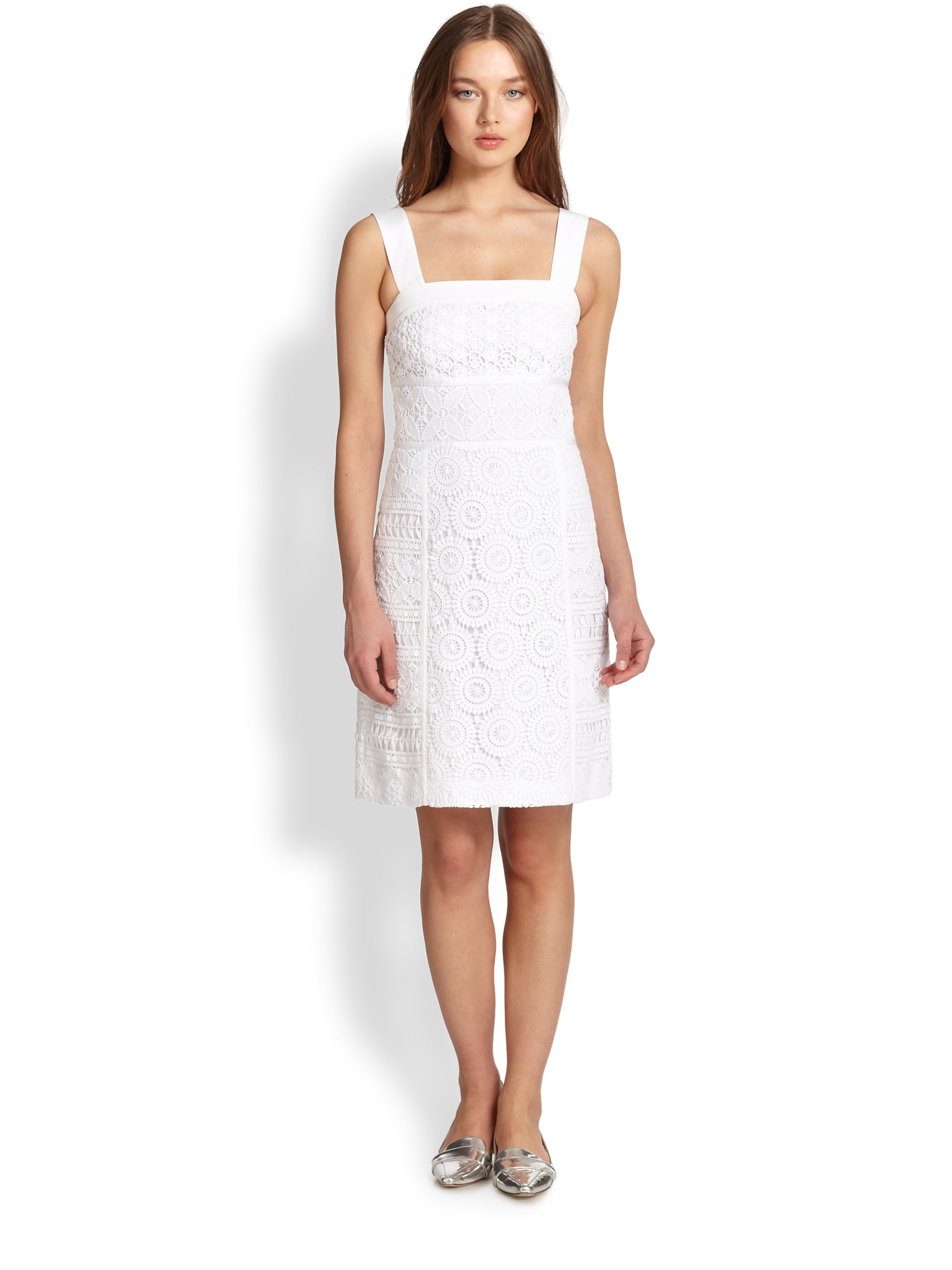 Lyst Tory Burch Margaux Dress In White