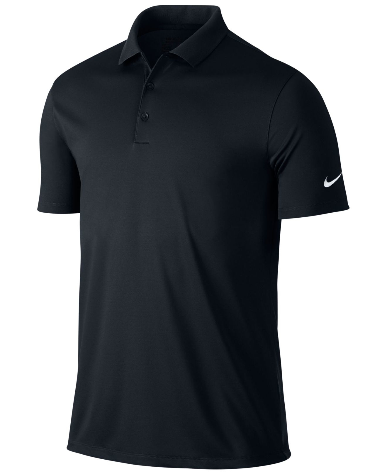 Nike Men 39 S Victory Solid Dri Fit Golf Polo In Black For