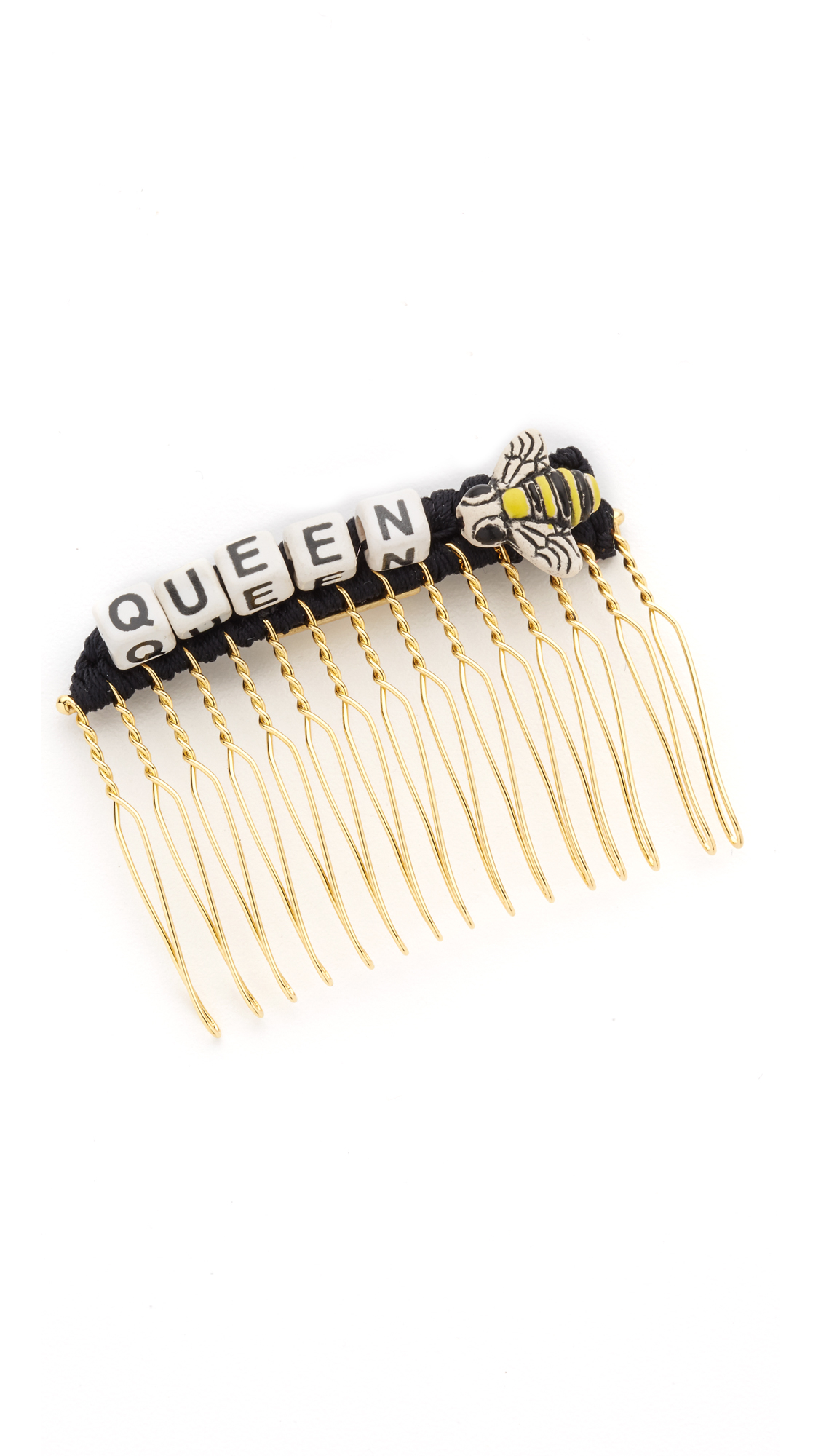 Venessa Arizaga Queen Bee Hair Comb In Black Lyst