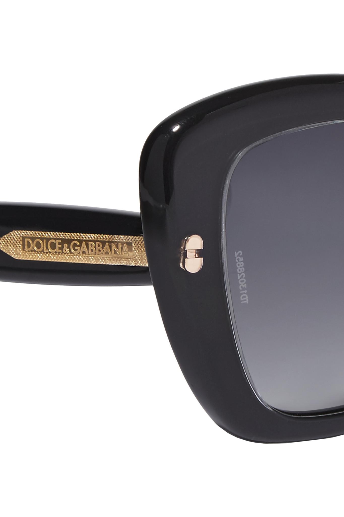 Dolce & Gabbana Square-frame Acetate Sunglasses in Black