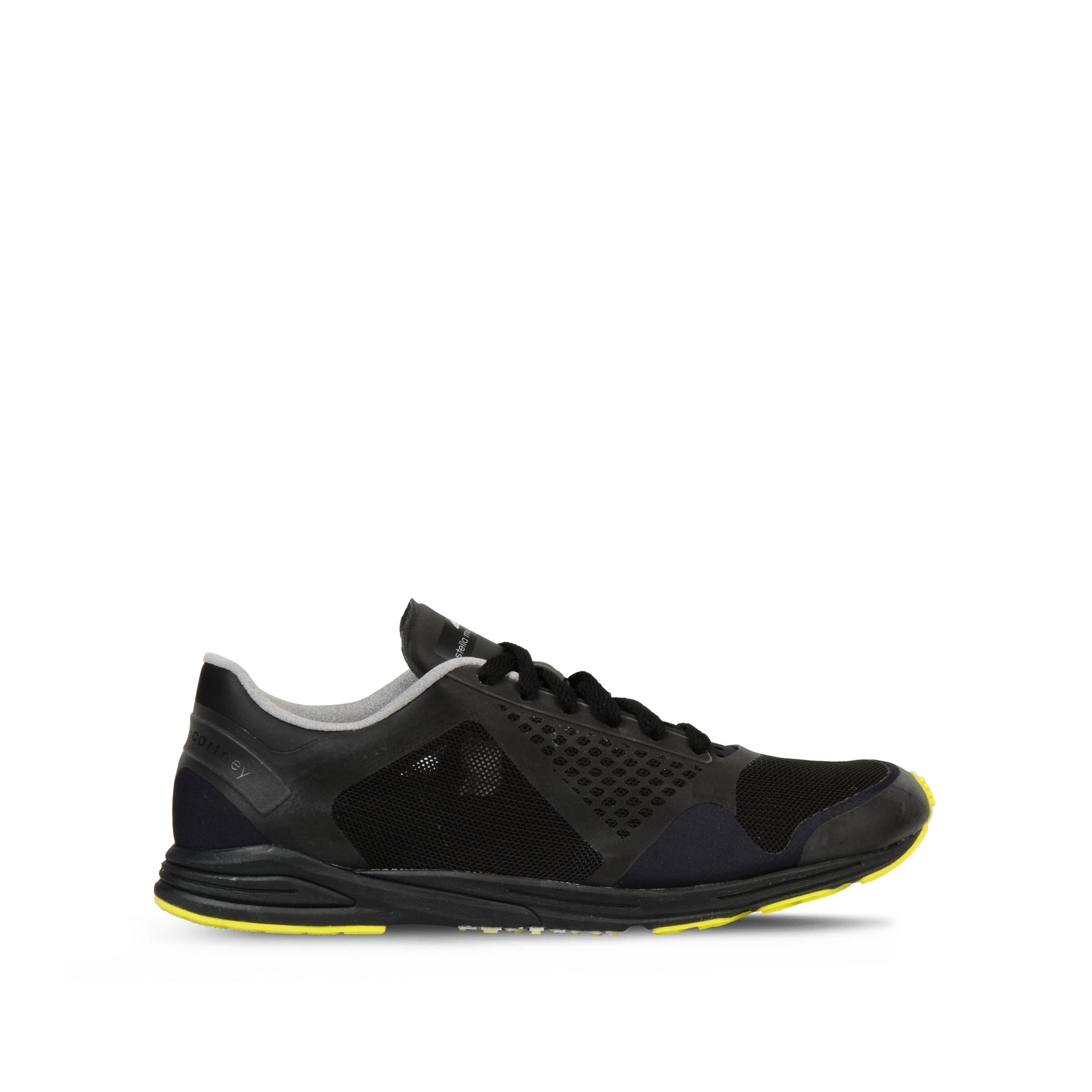 adidas by stella mccartney black adizero racing running shoes in black lyst. Black Bedroom Furniture Sets. Home Design Ideas