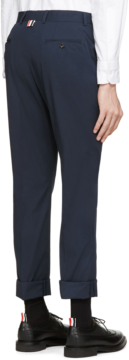Cotton Twill Unconstructed Chino Trouser - Blue Thom Browne nRxbHACFC