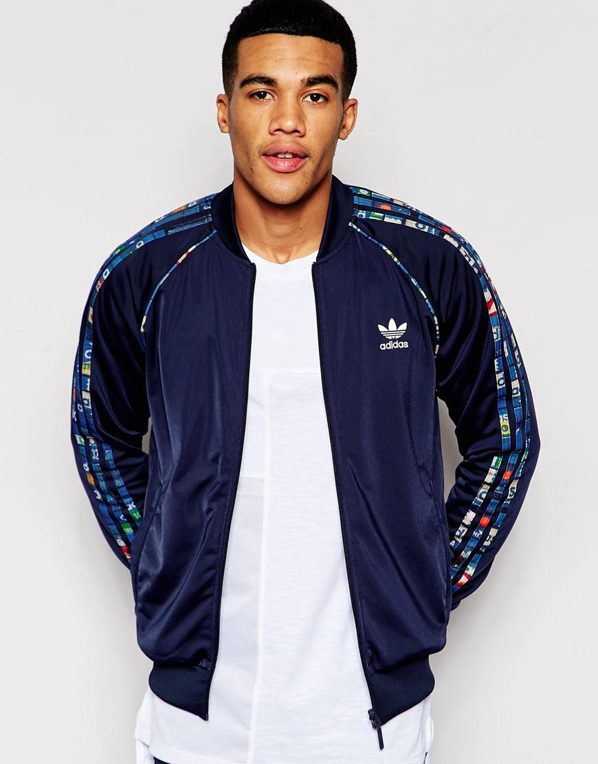 982b1dc6c Adidas Originals Blue Reversible Track Jacket With Shoebox Print Aj6993 for  men