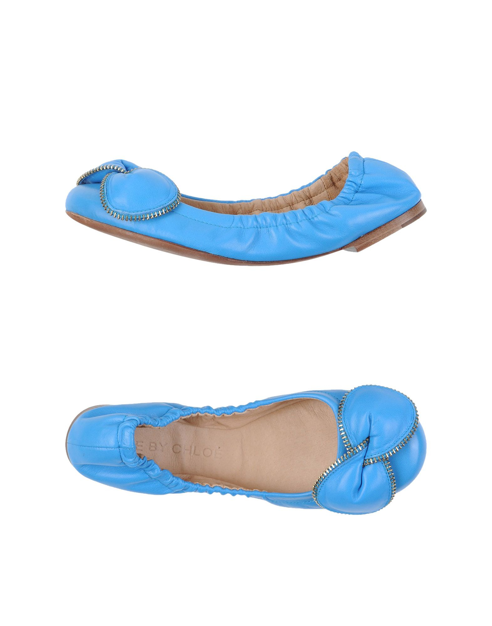 see by chlo ballet flats in blue azure lyst. Black Bedroom Furniture Sets. Home Design Ideas