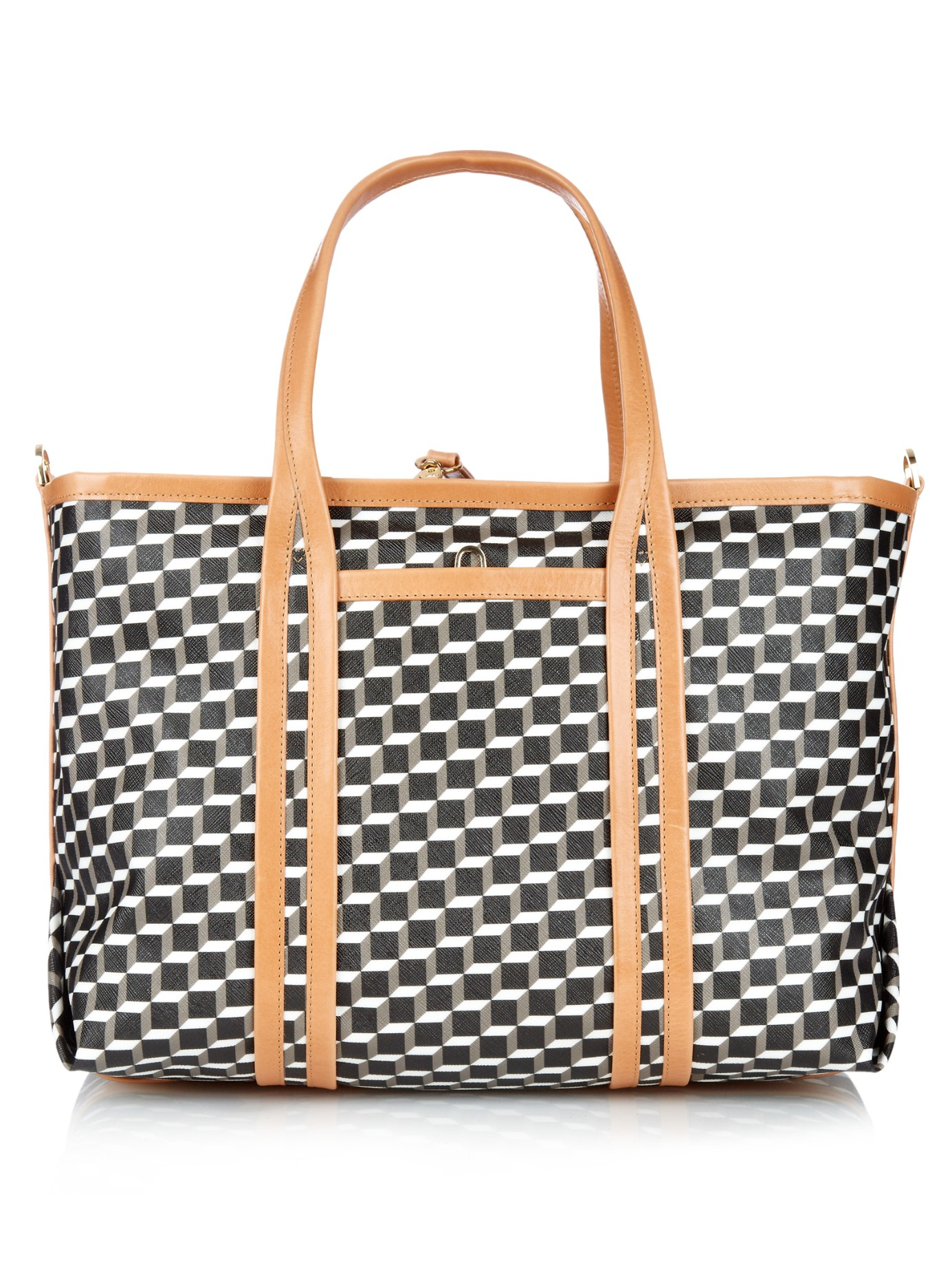 Tote Bag in Black and White Cube Canvas and Calfskin Pierre Hardy Buy Cheap How Much TJIaIMUG9m