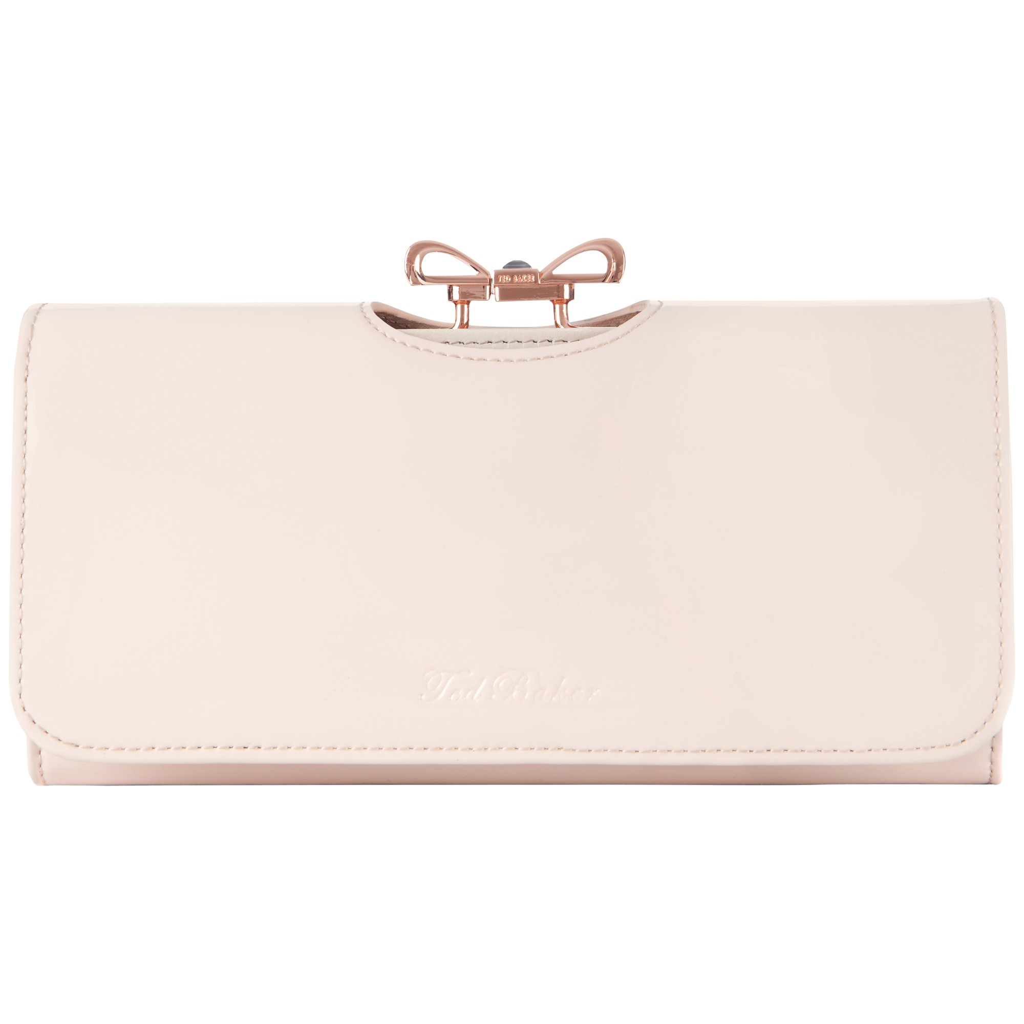 Ted Baker Lindar Bow Bobble Leather Purse in Pink | Lyst
