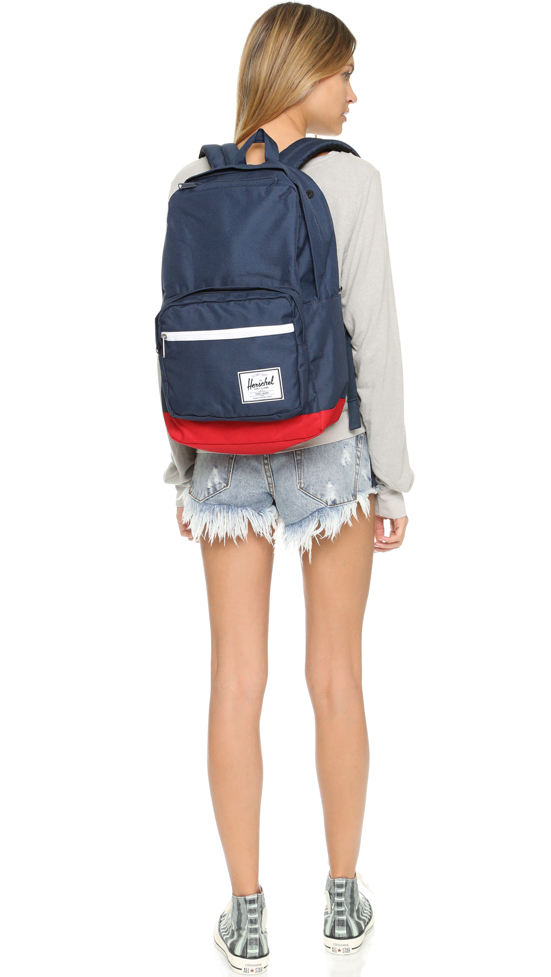 631688afb4e2 Herschel Supply Co. Blue Pop Quiz Backpack - Navy/red