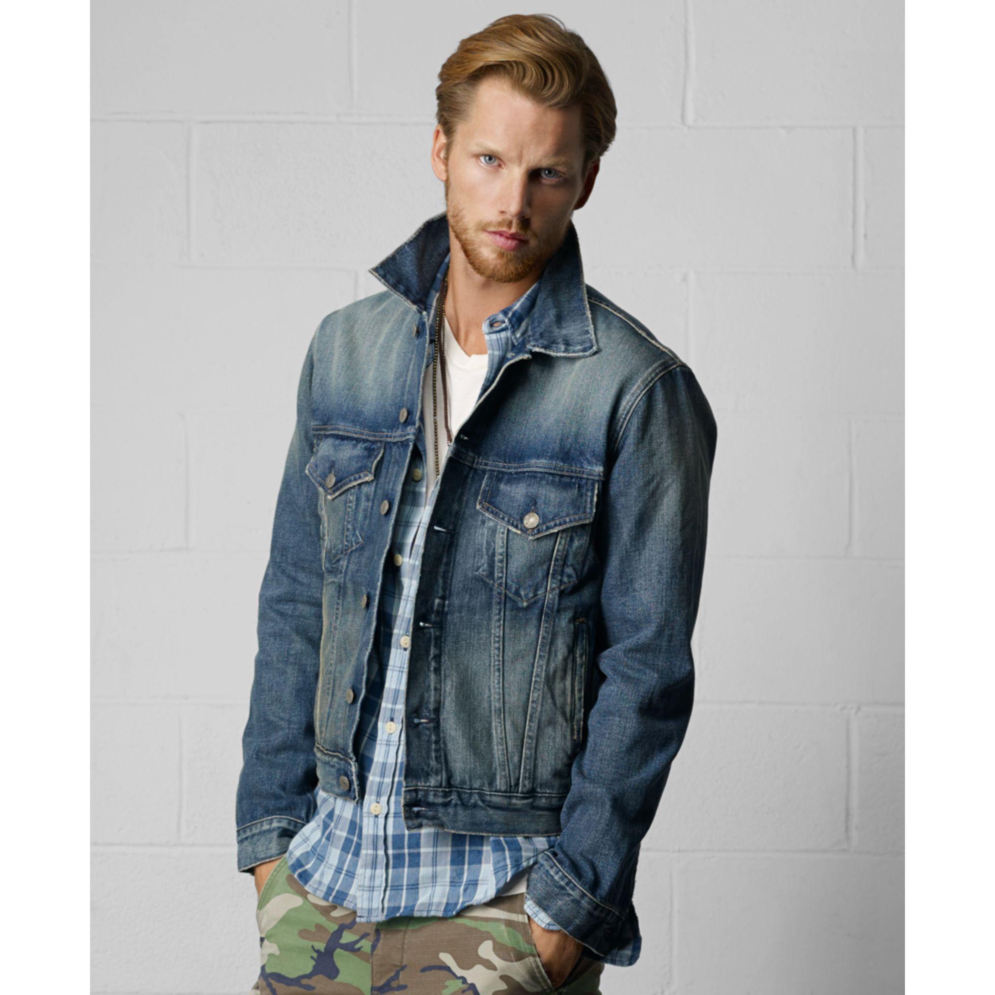 Denim amp supply ralph lauren blue men s denim jacket for men lyst