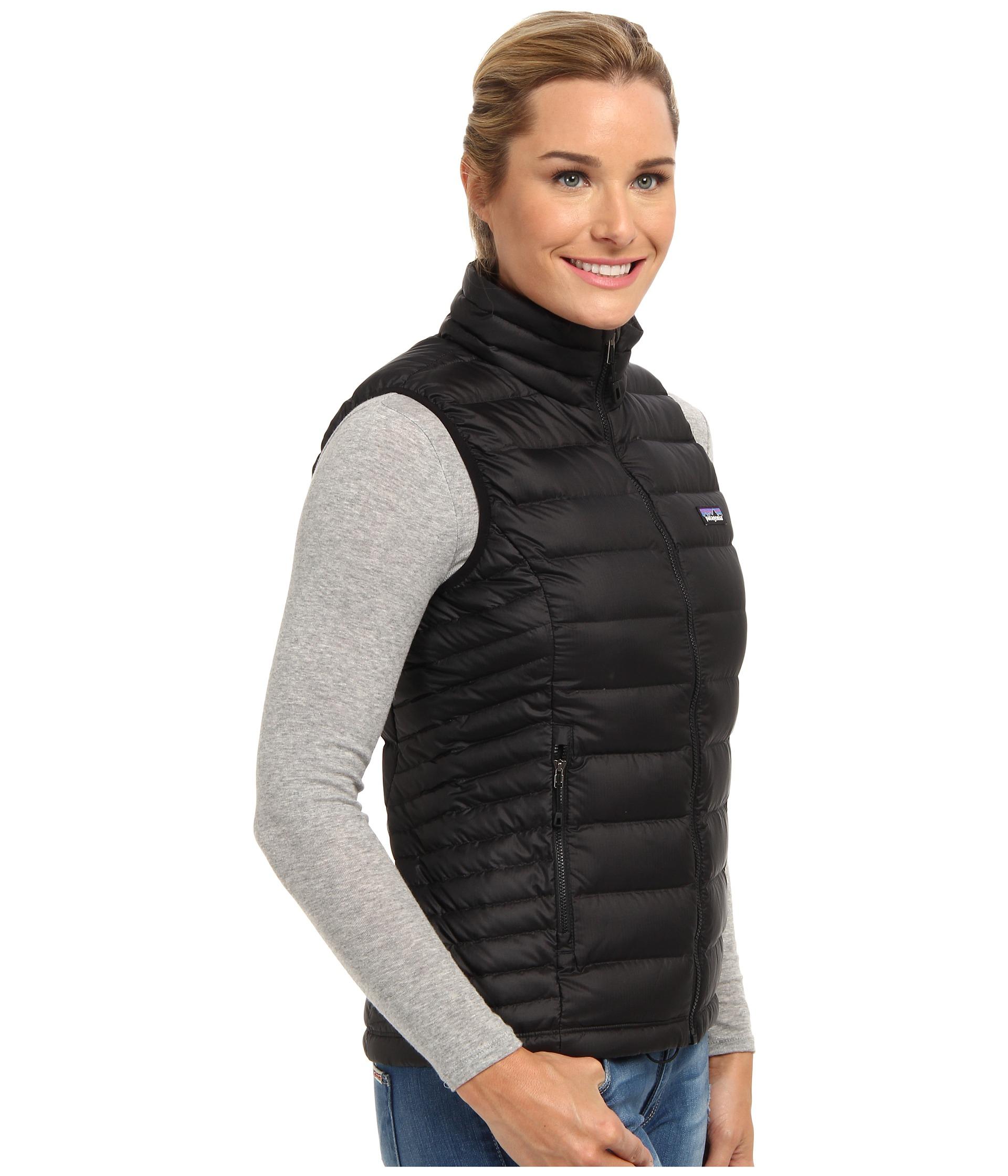 Patagonia Down Sweater Vest in Black | Lyst
