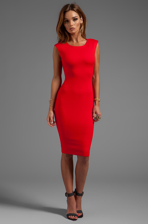 Lyst Bailey 44 Dark Net Body Con Dress In Red In Red