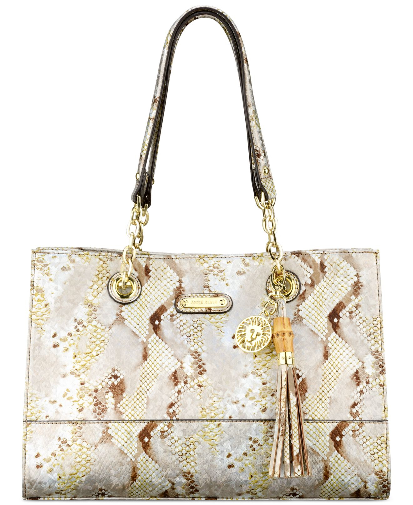 Clear Natural Coast Small Anne Klein Chain Is Tote DWEH2I9Y