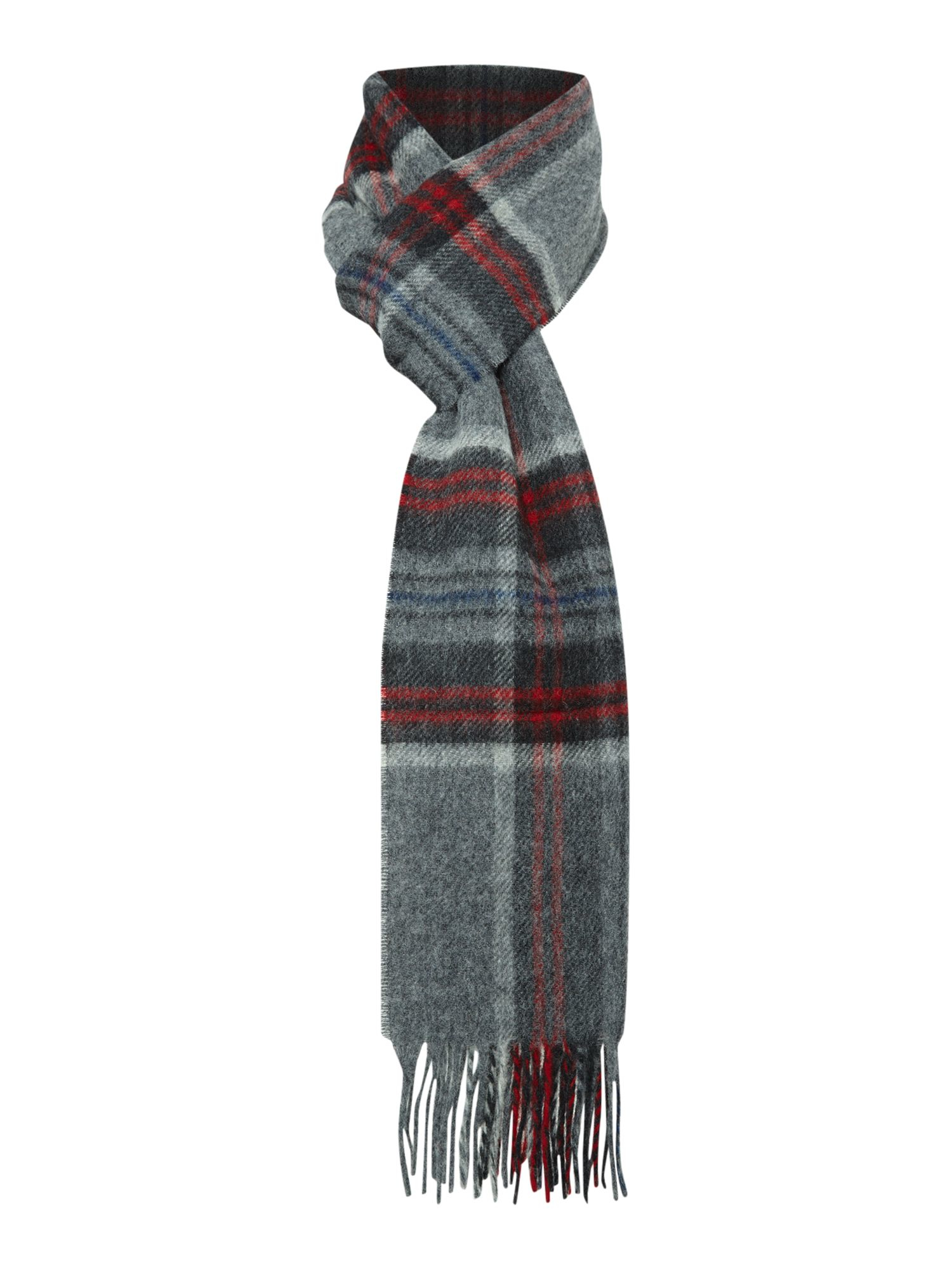 barbour barkell check international scarf in gray for