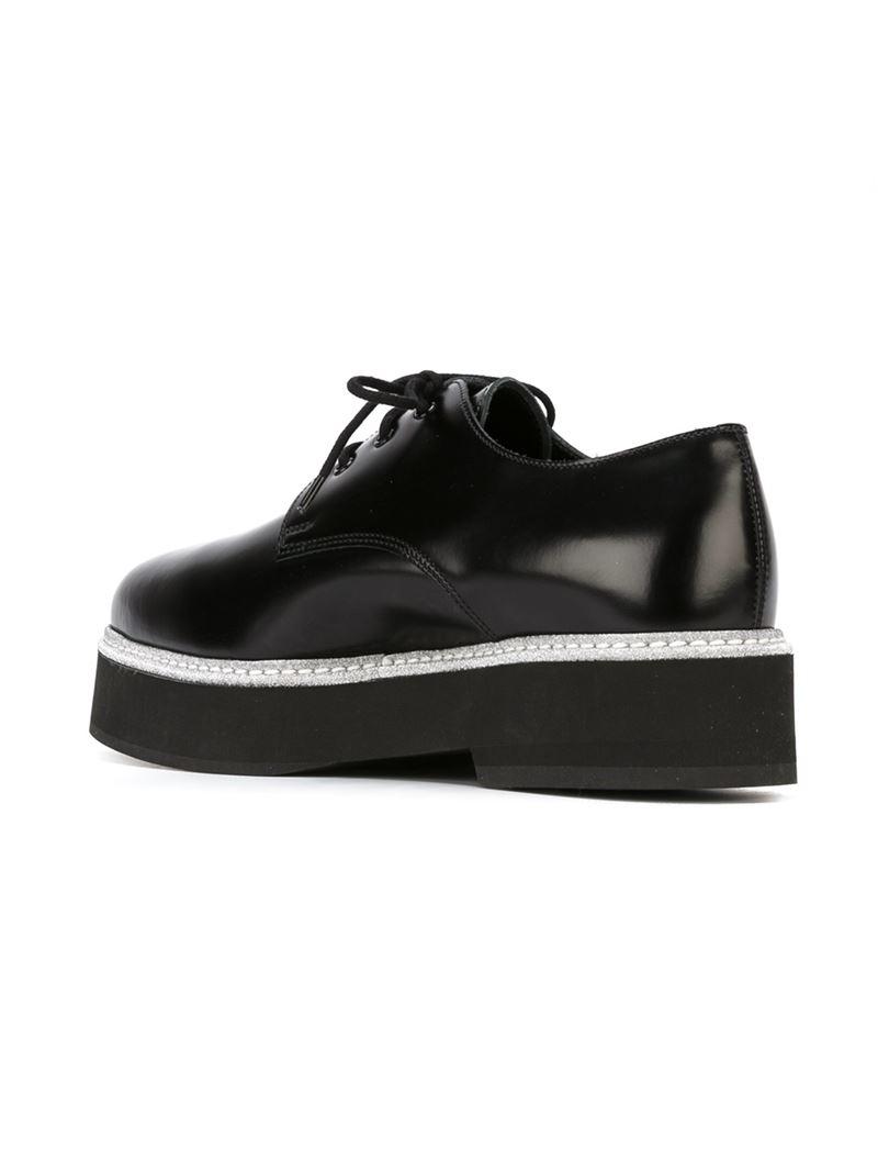 Alexander Lacets Chaussures Mcqueen - Noir Plateforme Plate SrjeRXzTGn
