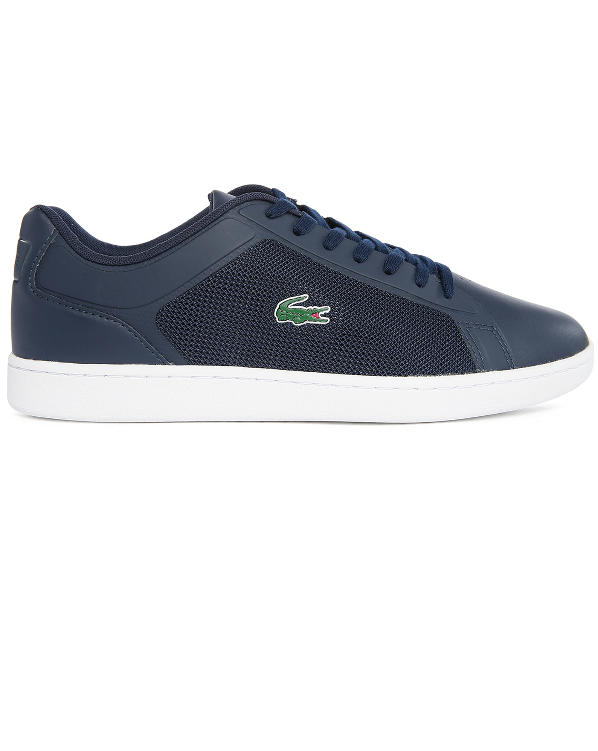 lacoste navy endliner lowtop sneakers in blue for men lyst