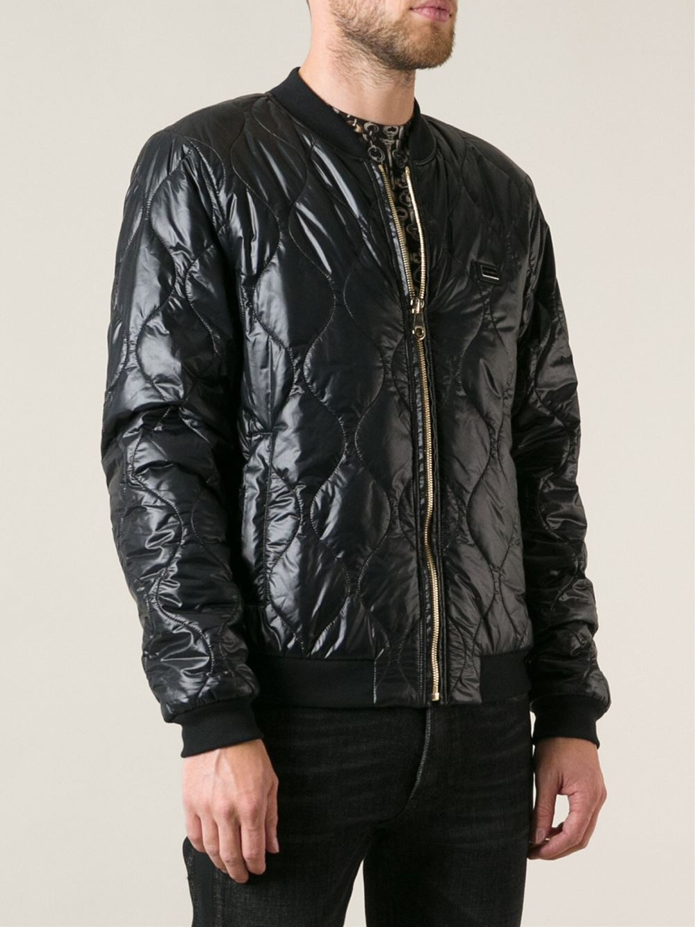 Dolce & Gabbana Cotton Quilted Bomber Jacket in Black for Men
