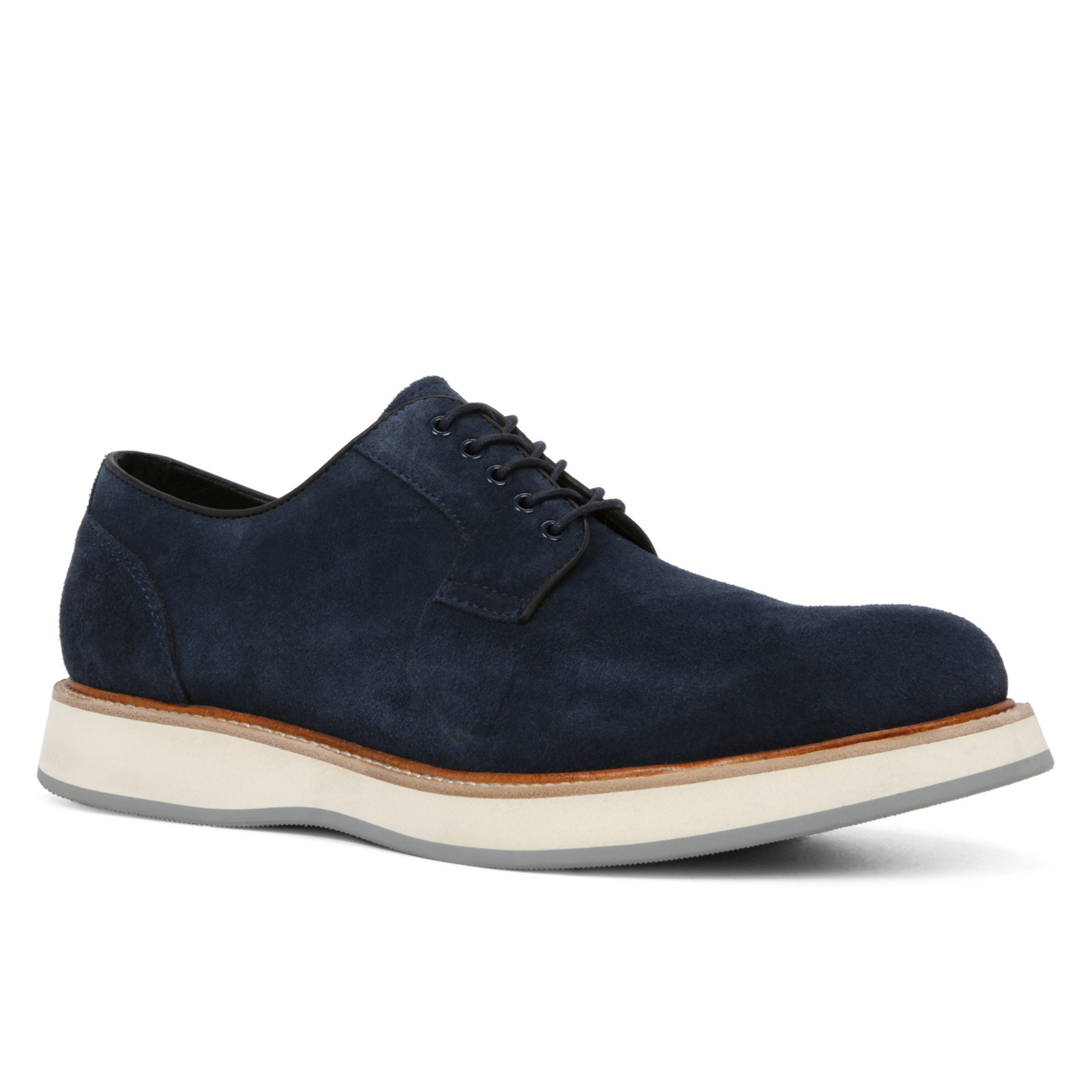 ALDO Leather Dobson in Navy Suede (White) for Men