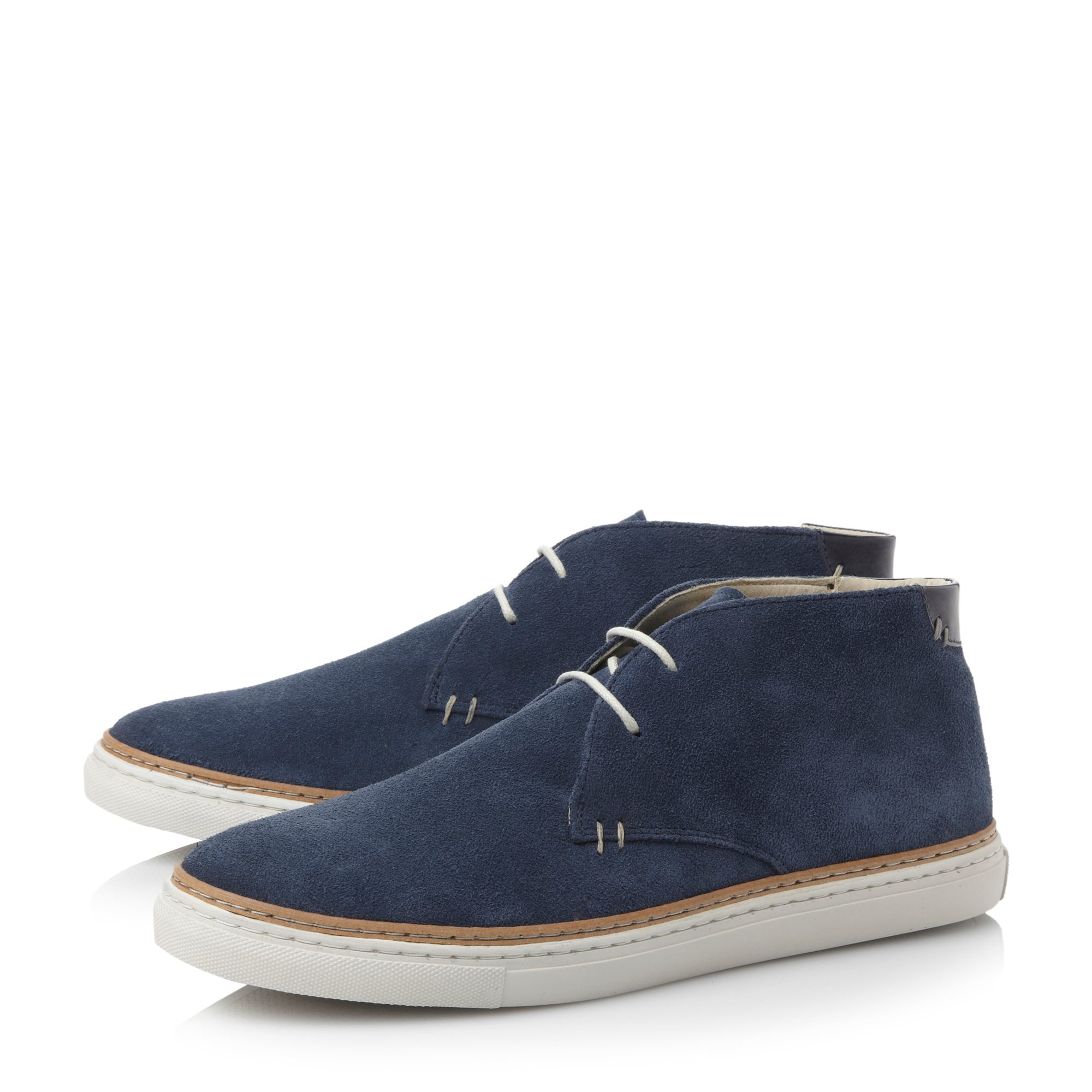 Bertie Lace Up Casual Chukka Boots in Blue for Men | Lyst