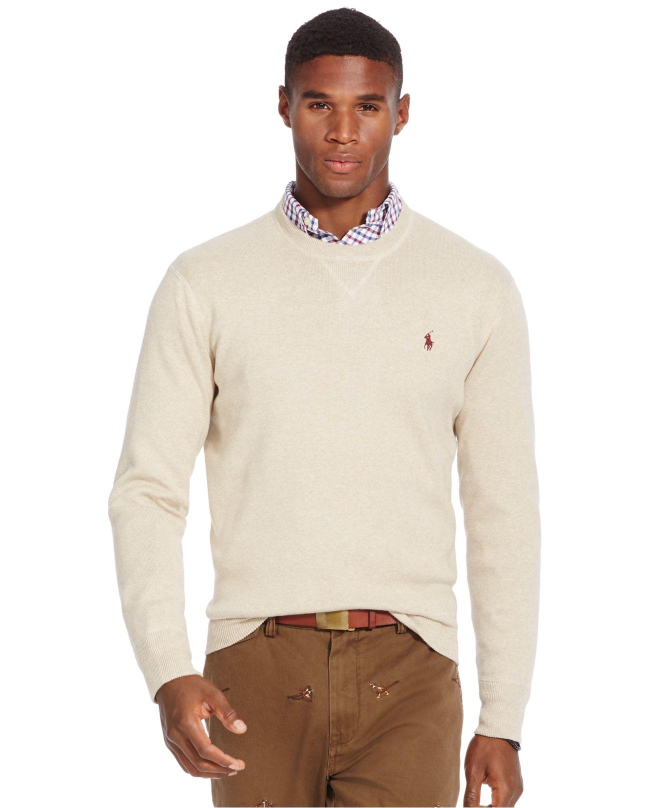 Polo ralph lauren Chest Logo Sweatshirt in Beige for Men