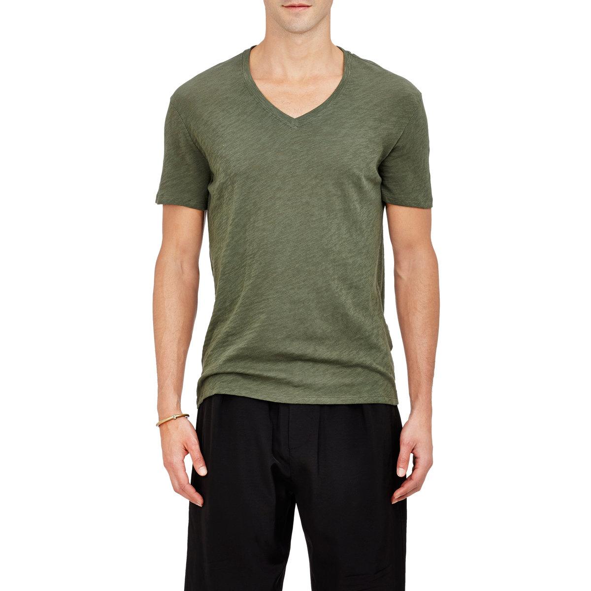 Lyst atm slub jersey t shirt in green for men for Atm t shirt sale