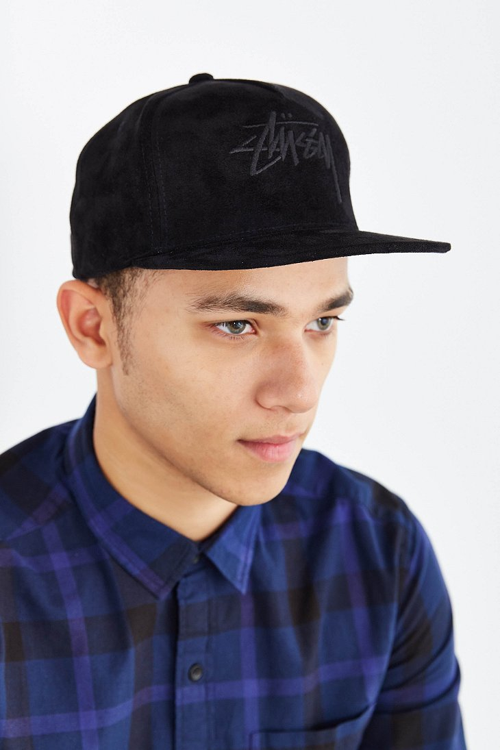 Lyst - Stussy Stock Suede Snapback Hat in Black for Men 24bf9fed8074