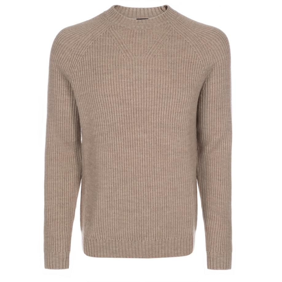 Paul smith Men's Taupe Merino Wool Ribbed Sweater in Natural for ...