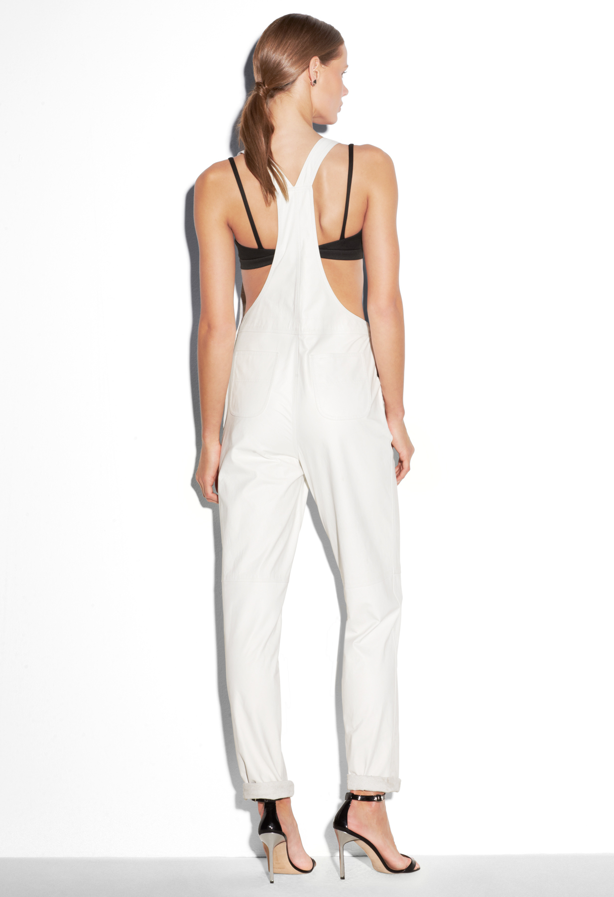 Milly Leather Overalls