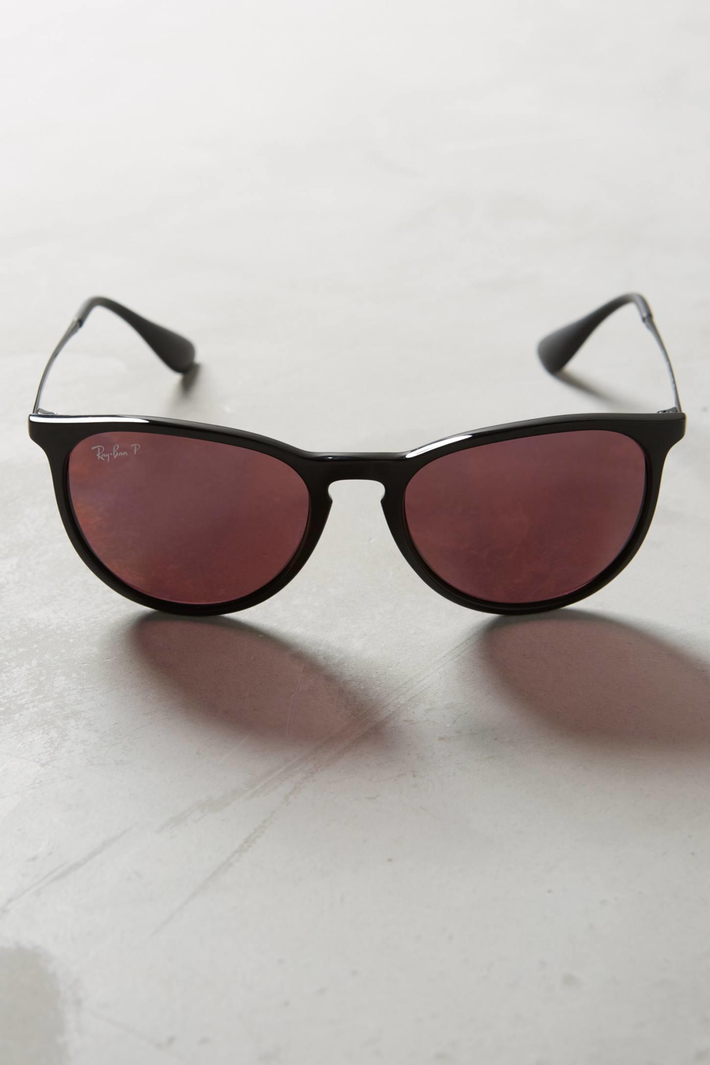 ray ban erika polarized sunglasses in purple lyst. Black Bedroom Furniture Sets. Home Design Ideas