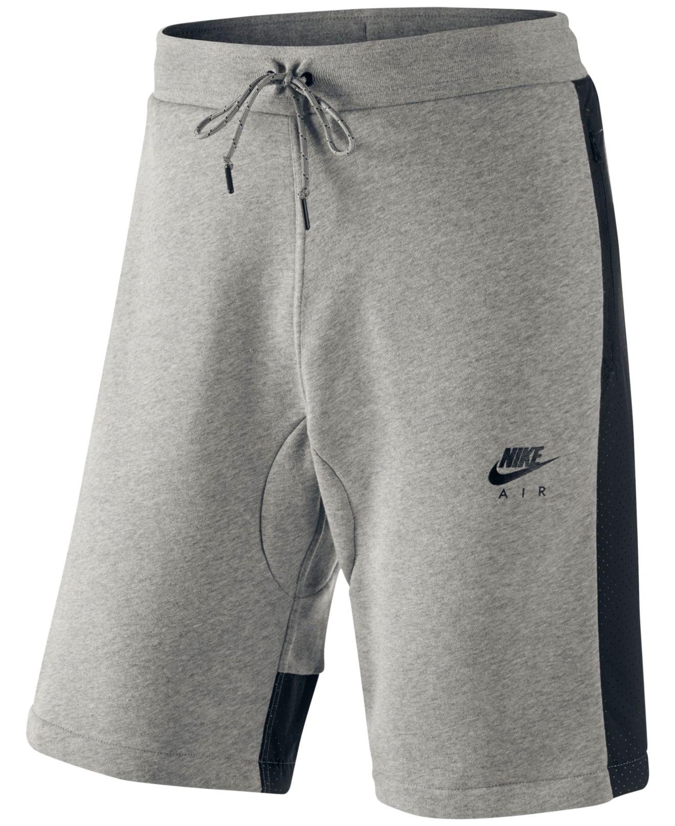 632c38144888 Lyst - Nike Men s Air Hybrid Fleece Shorts in Gray for Men