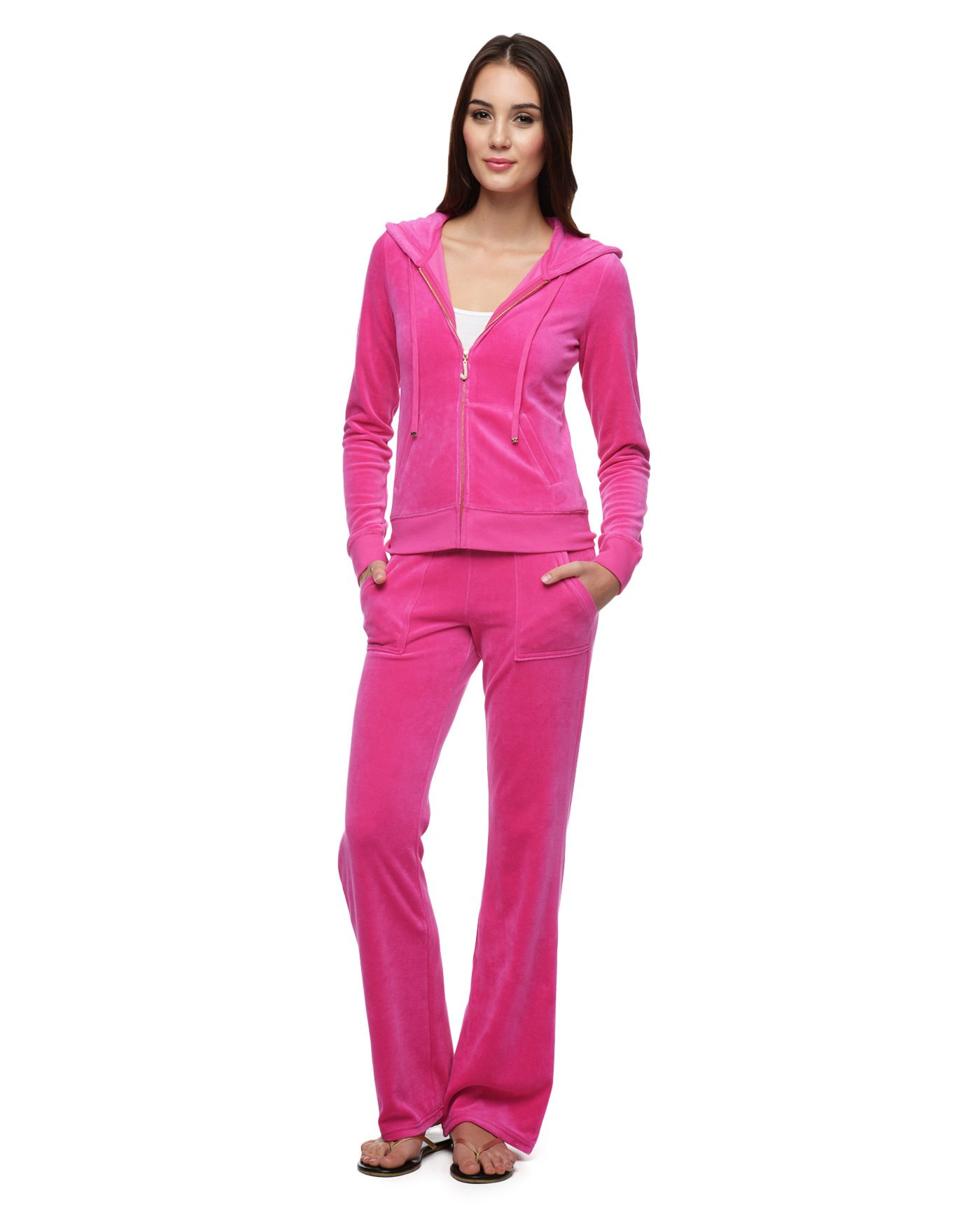 Juicy couture Bling Bootcut Velour Pant in Pink (SWEET ...