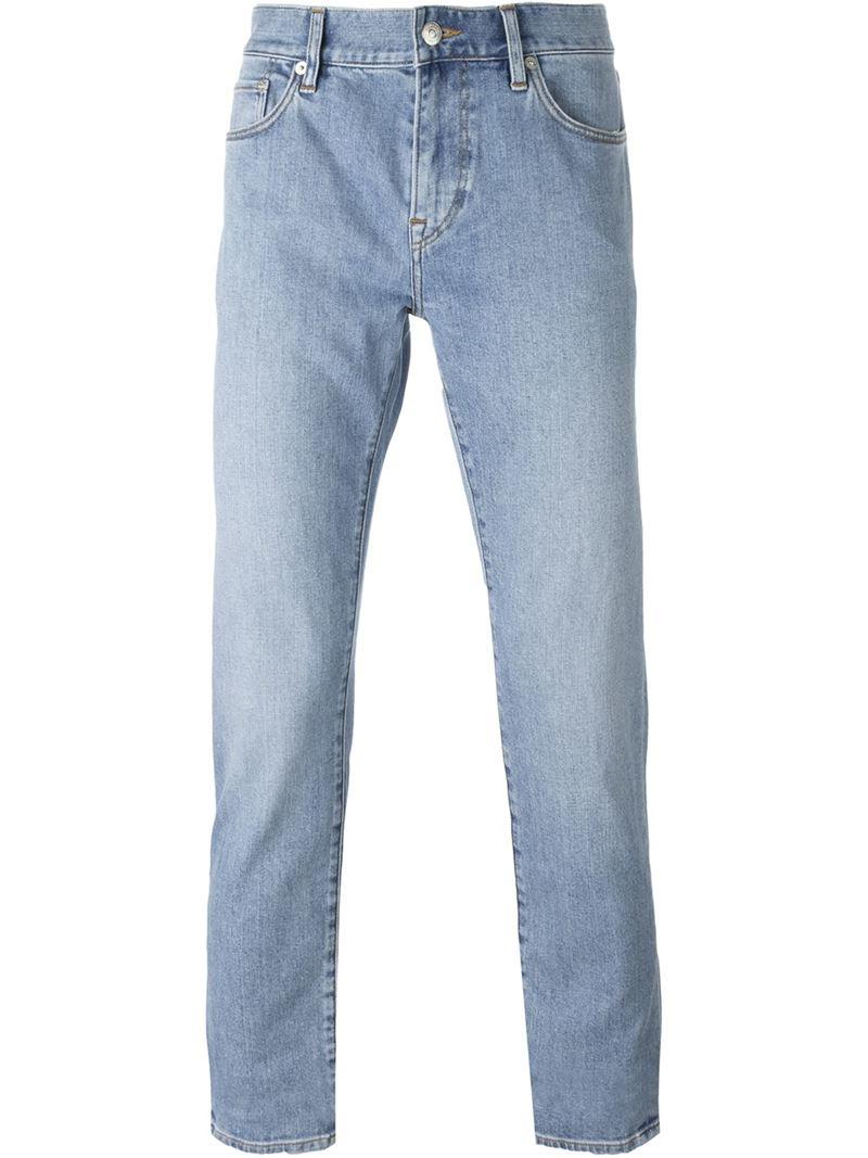 burberry brit slim fit jeans in blue for men lyst. Black Bedroom Furniture Sets. Home Design Ideas