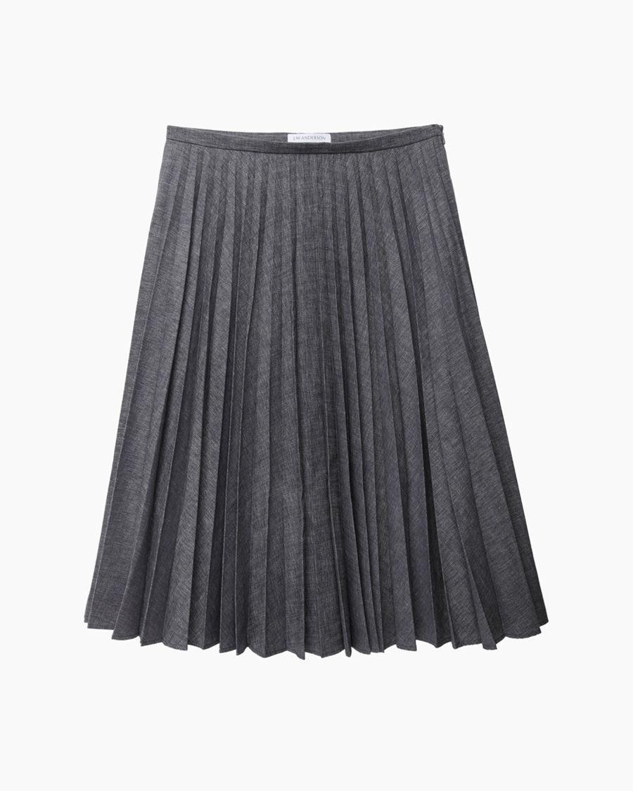 Lyst J W Anderson Fan Pleat Skirt In Blue