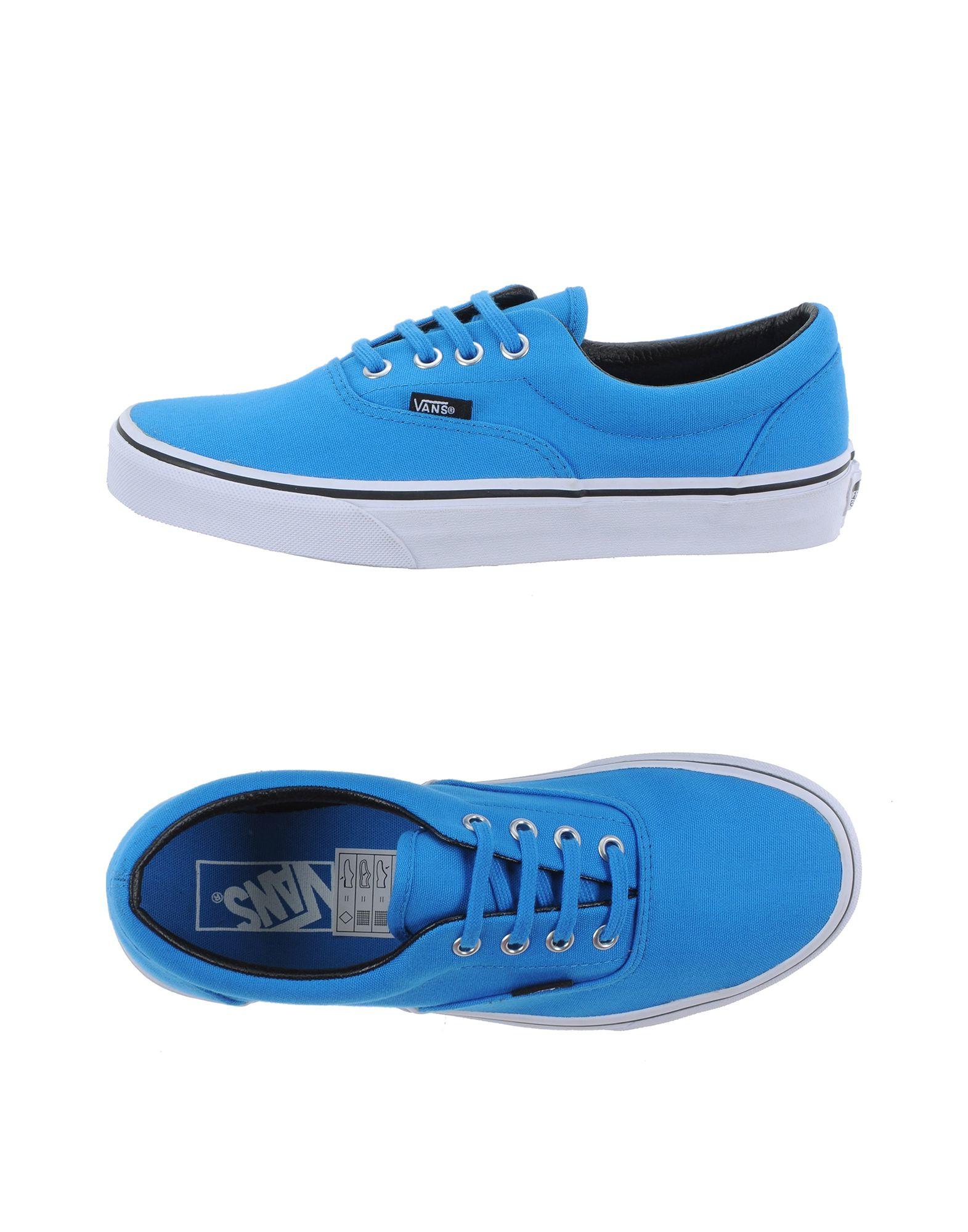 vans low tops sneakers in blue lyst. Black Bedroom Furniture Sets. Home Design Ideas