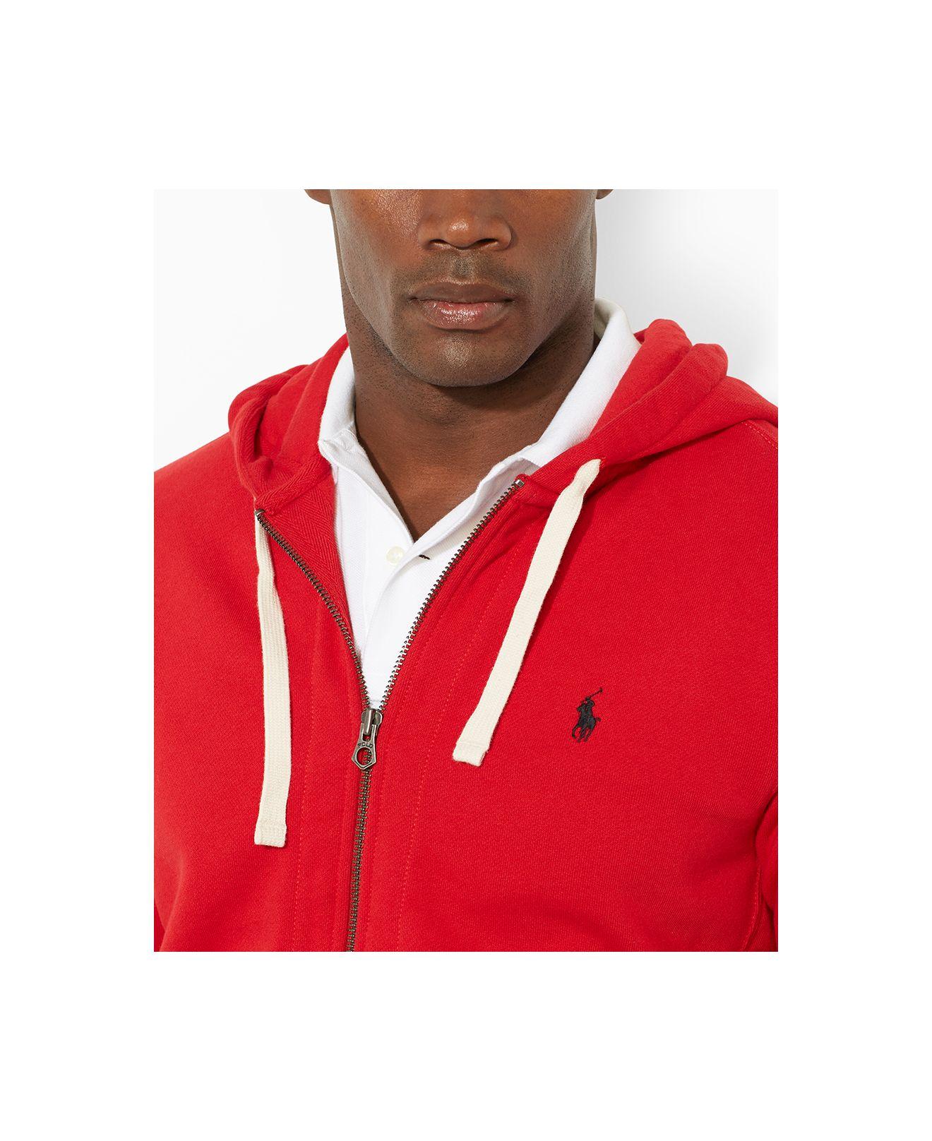 ... Polo Ralph Lauren Full-Zip French-Rib Red Hoodie ...