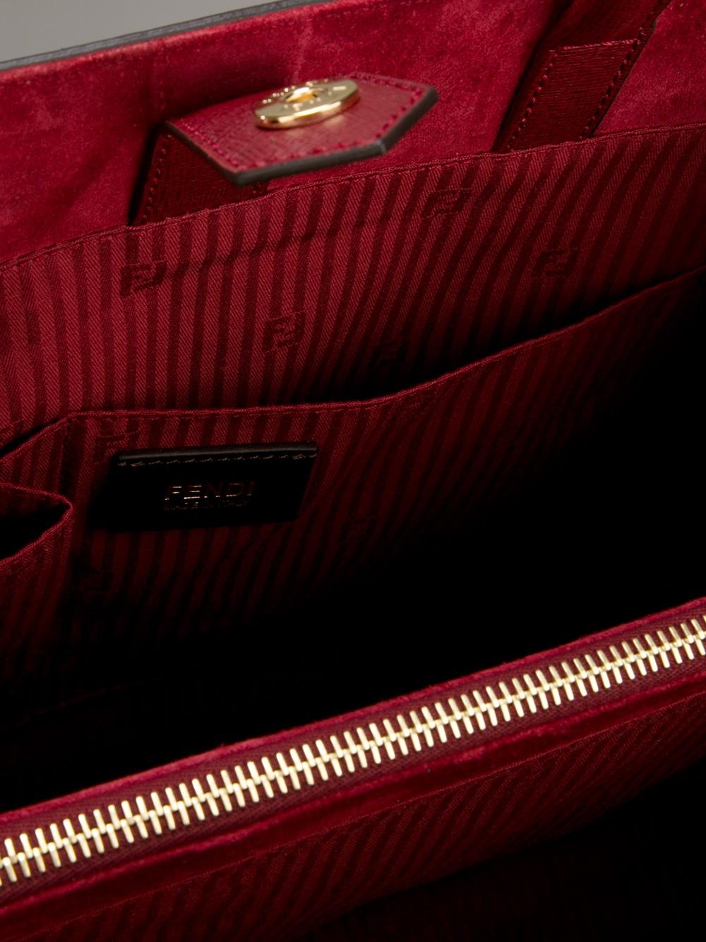 Fendi 2jour Tote in Red (Purple)
