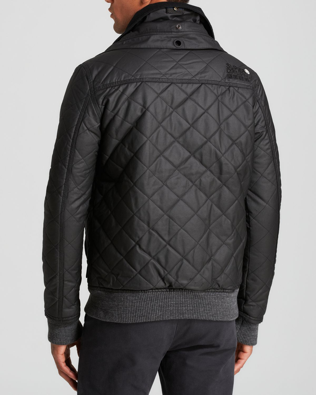 Superdry Moody Quilt Bomber Jacket In Black For Men Lyst