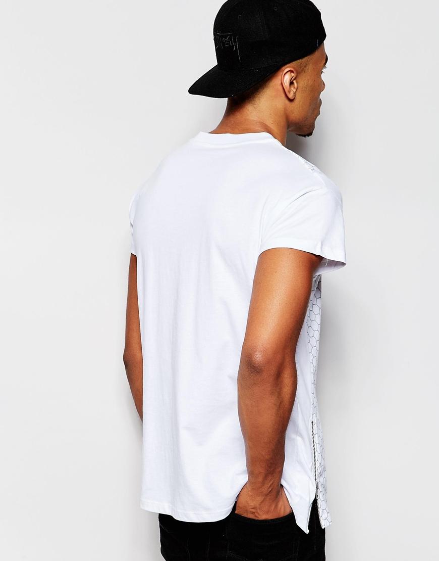 lyst jack jones oversized t shirt in white for men. Black Bedroom Furniture Sets. Home Design Ideas