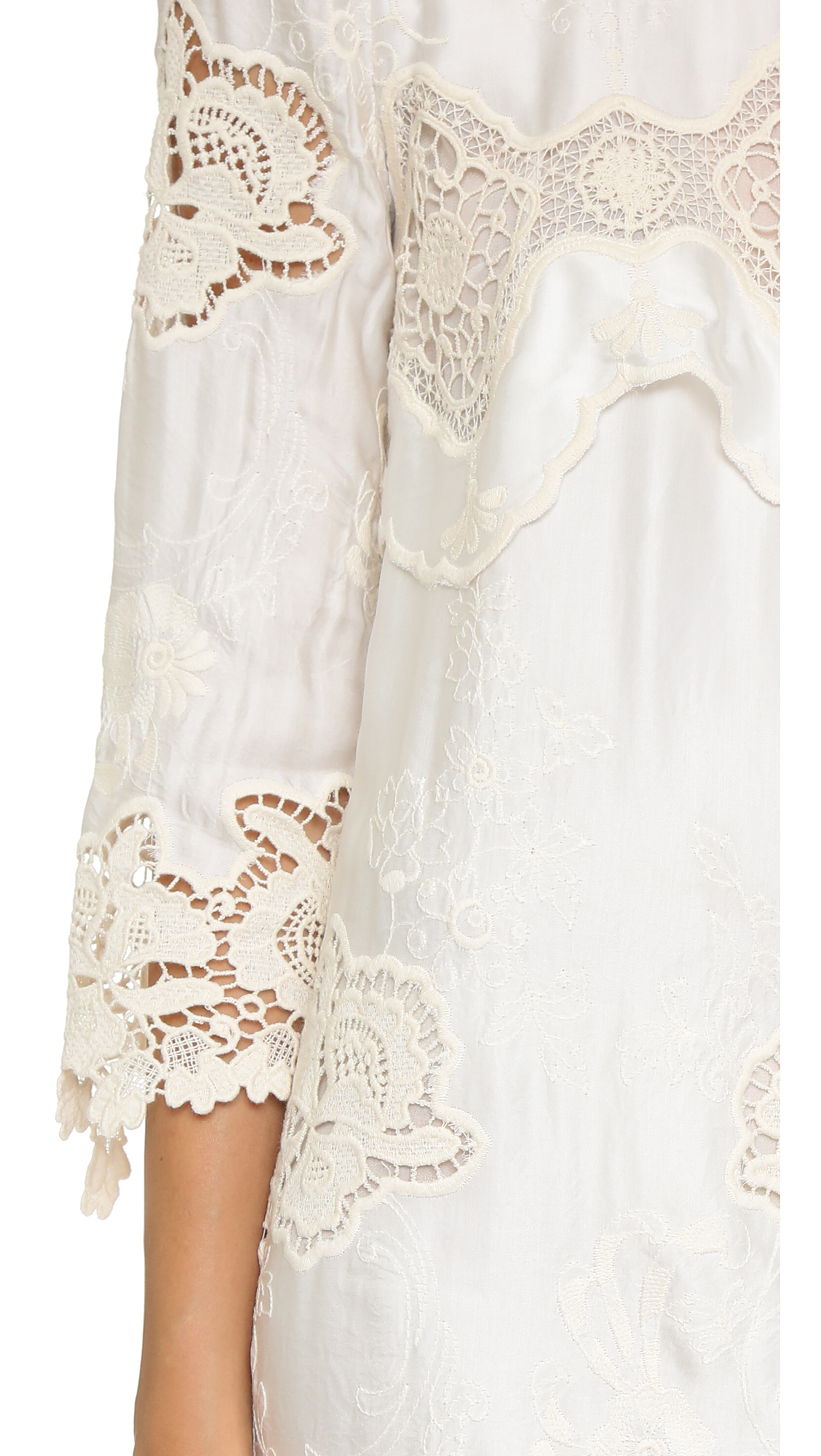 Lyst - Just Cavalli Lace Shift Dress - Off White