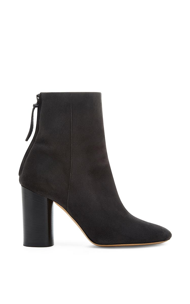 isabel marant black suede grover ankle boots in black. Black Bedroom Furniture Sets. Home Design Ideas
