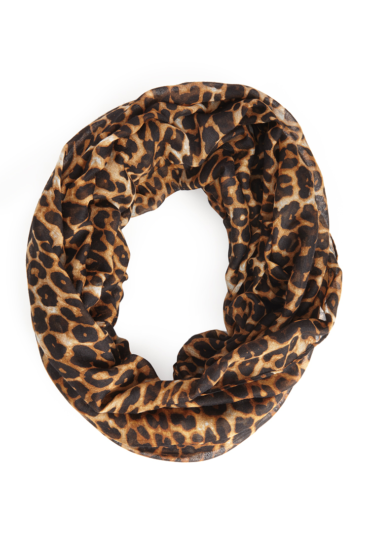 a61fe4c1d9d6 Lyst - Forever 21 Leopard Print Infinity Scarf