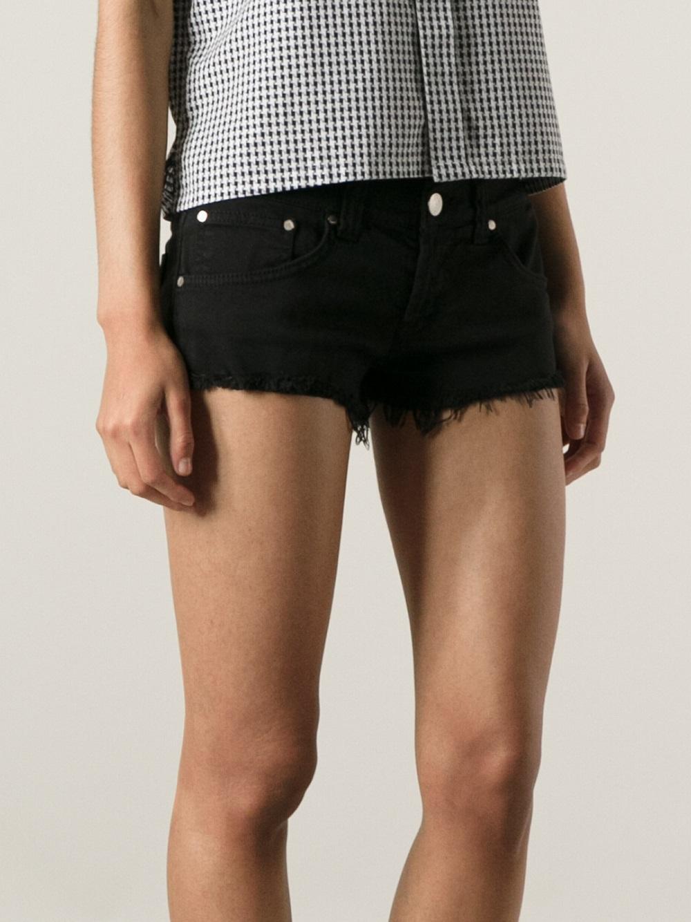 distressed denim shorts - Black Dondup cDwQxV6