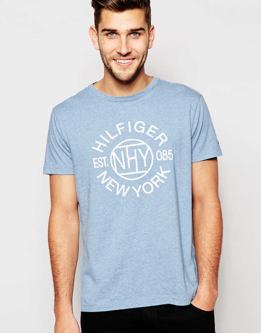 Lyst - Tommy Hilfiger T-shirt With New York Print in Blue for Men dd518730e65