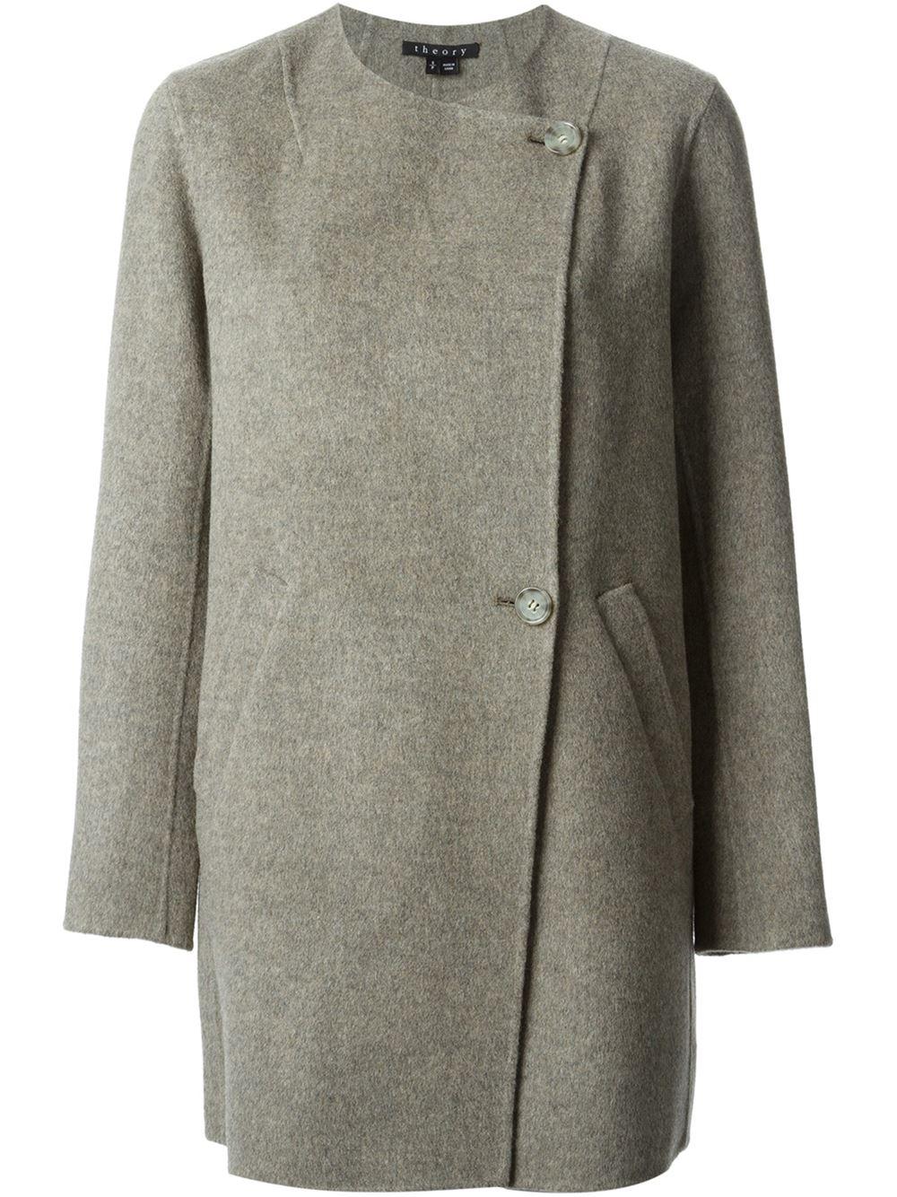 Theory Nyma Coat in Gray | Lyst