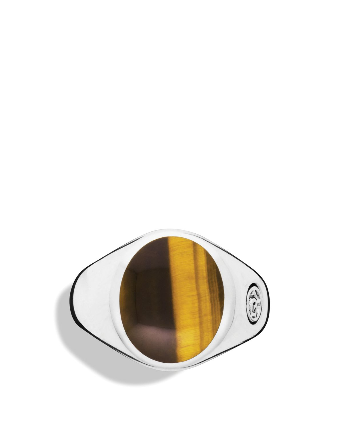 855df7bf32fd5 David Yurman Brown Exotic Stone Signet Ring with Tigers Eye for men