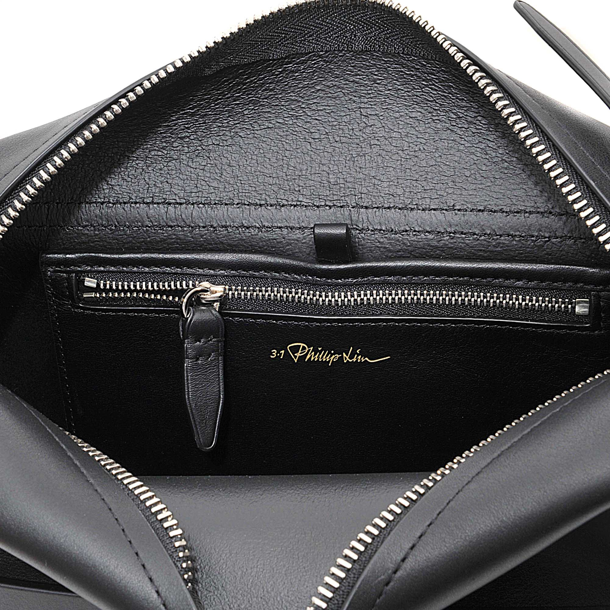 3.1 Phillip Lim Leather Medium Bianca Flap Crossbody Bag in Black