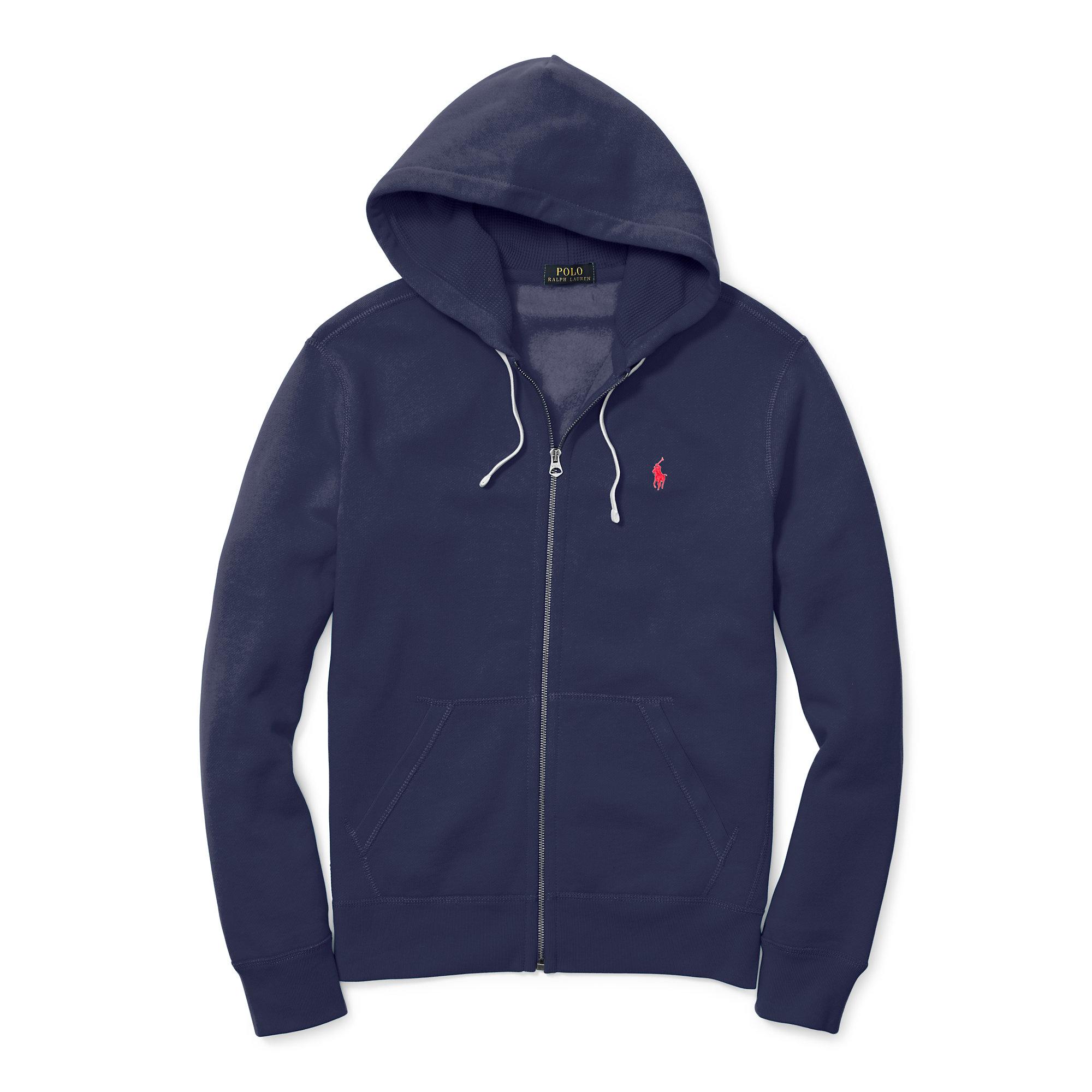 Blend Lauren Cotton Men Fleece Polo Ralph Hoodie For Blue POXZuTwki