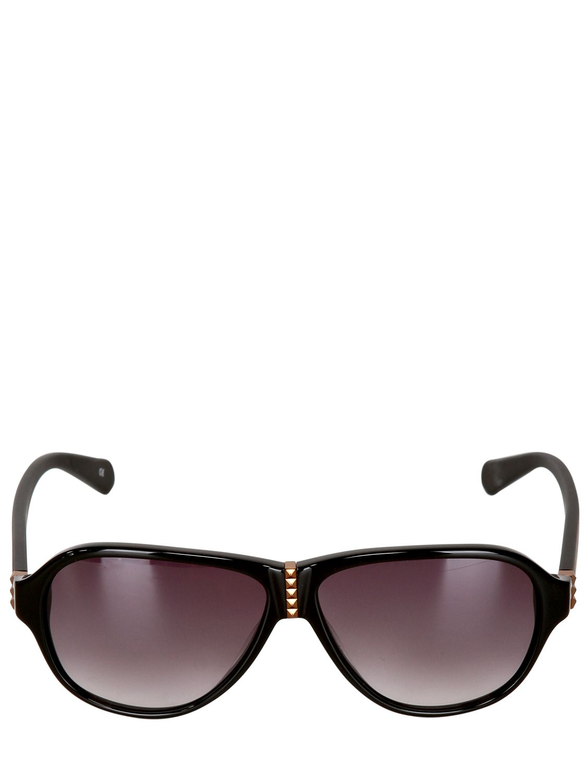 Balmain lauren sunglasses in black for men lyst for Van heusen pilot shirts slim fit