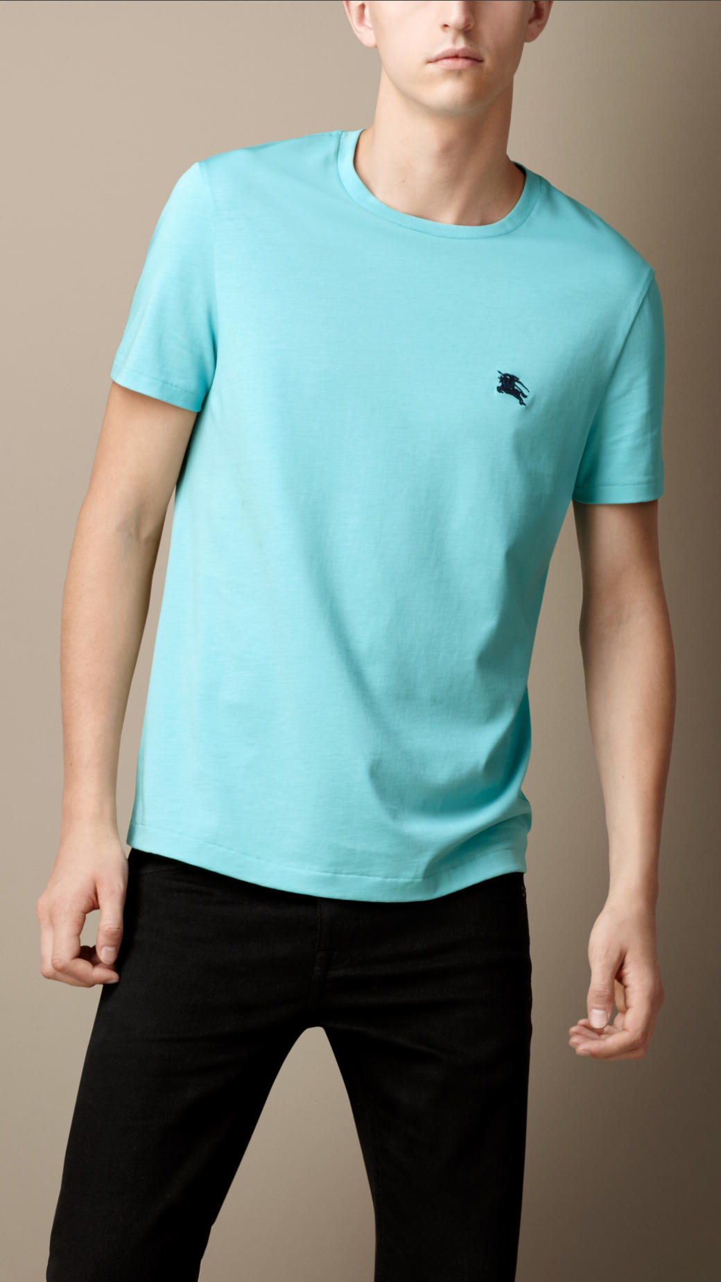 70cbb9081 Burberry Liquid Soft Cotton T-Shirt in Blue for Men - Lyst