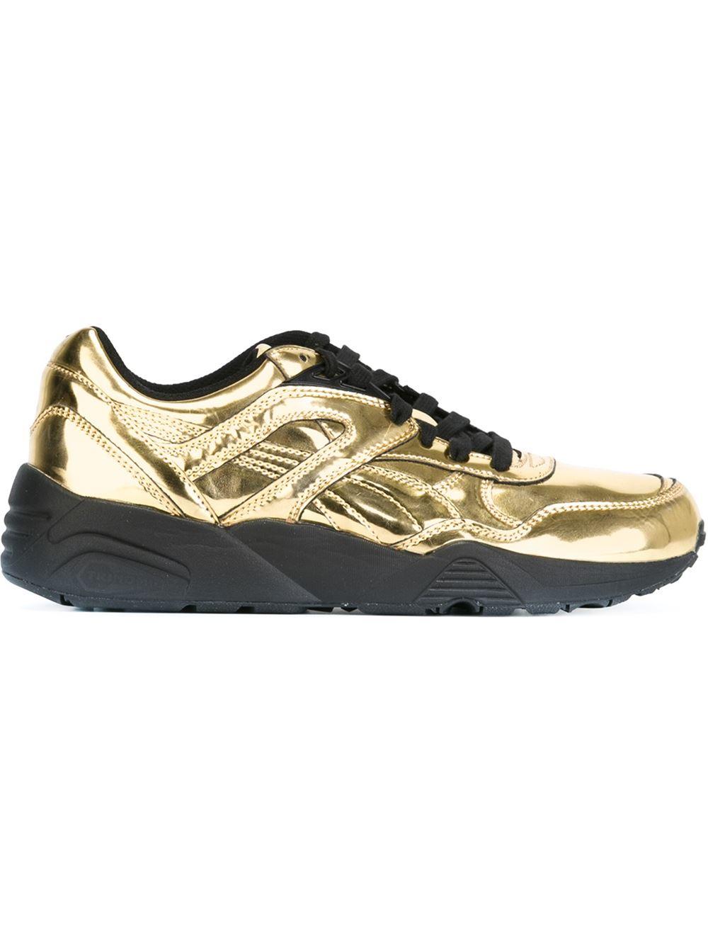 Saint Laurent Metallic Shoes Mens