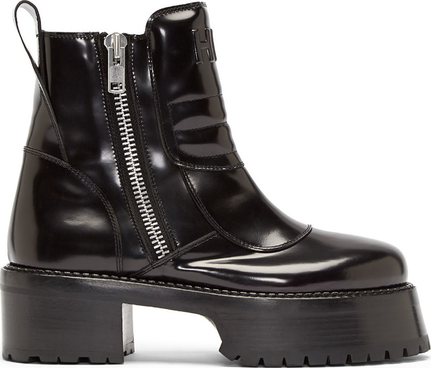Lyst Hood By Air Black Leather Forfex Edition Centaur Boots In Black
